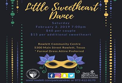 Little Sweetheart Dance info flyer
