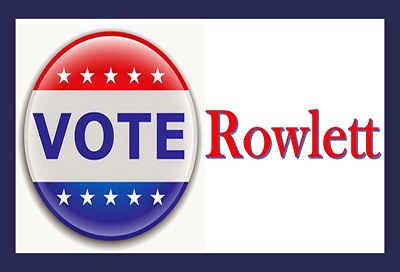 Vote button with Rowlett text