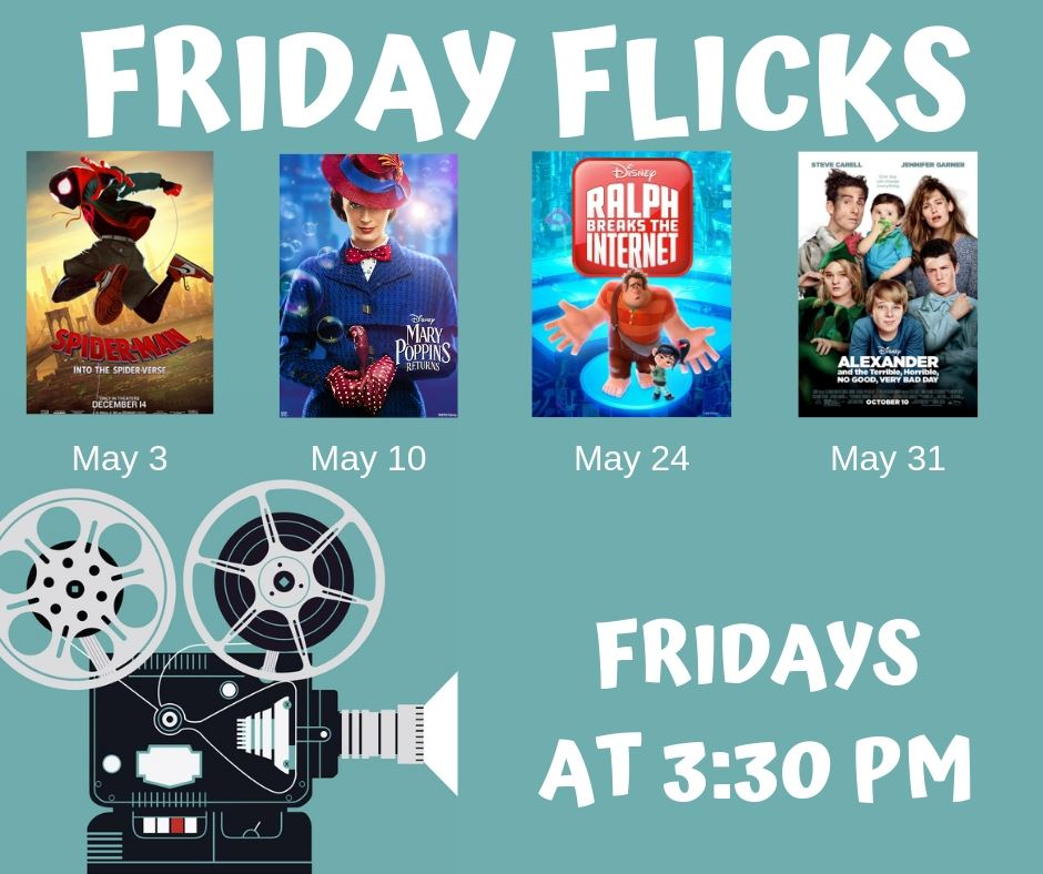 Friday Flicks-May-Monthly List for Mailchimp