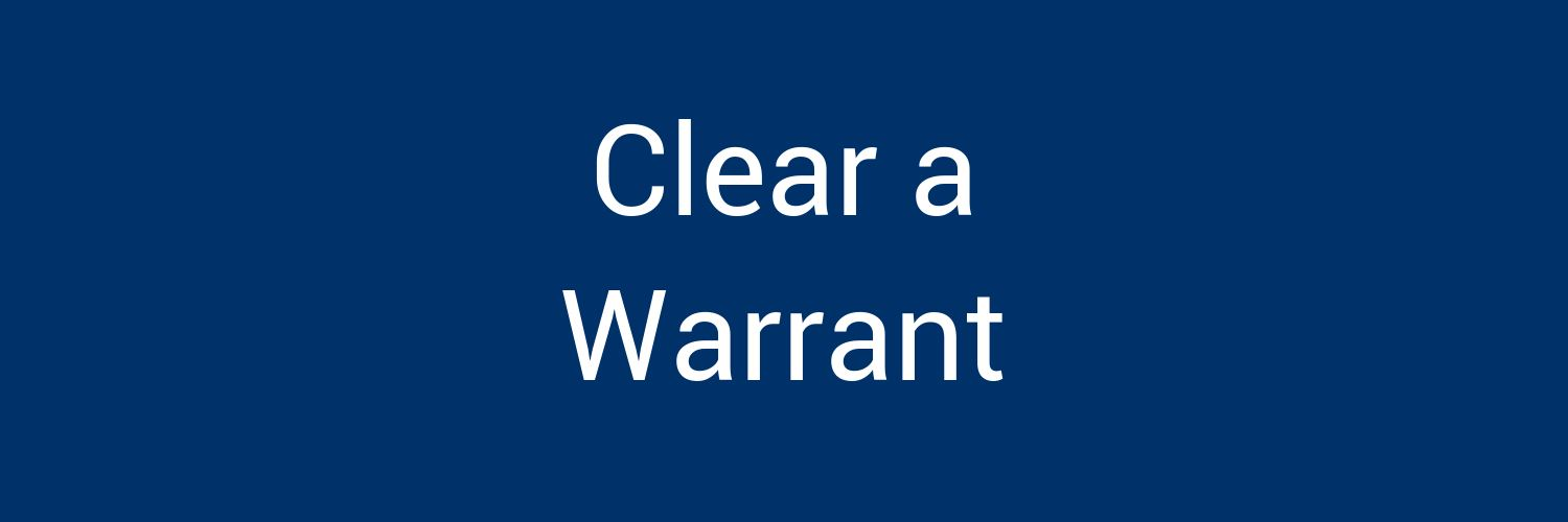Clear a Warrant