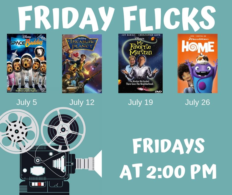 Friday Flicks-July-Monthly List for Mailchimp