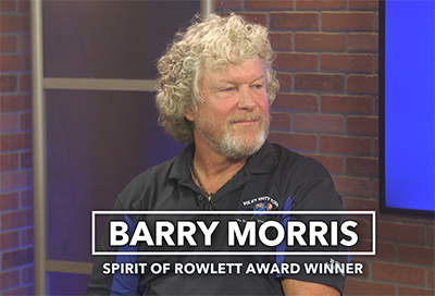 Barry Morris-August 2019 Spirit of Rowlett awardee