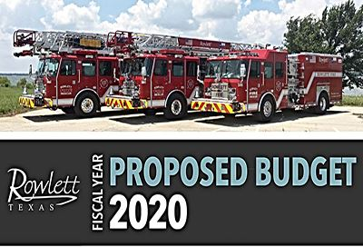 FY2020 Proposed Budget Document Cover