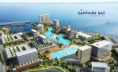 Sapphire Bay development rendering with logo