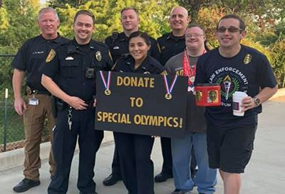 Rowlett police officers and Special Olympians