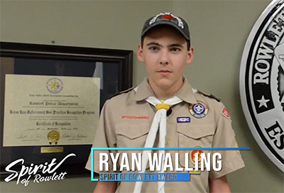 Spirit of Rowlett awardee Ryan Walling