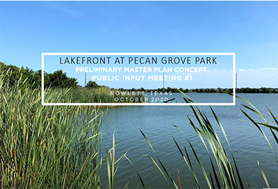 Lakefront at Pecan Grove Park survey