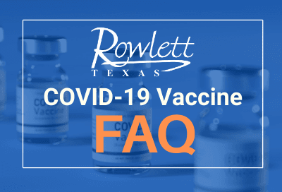Text reads COVID-19 Vaccine FAQ