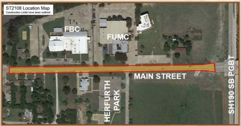Main street project map
